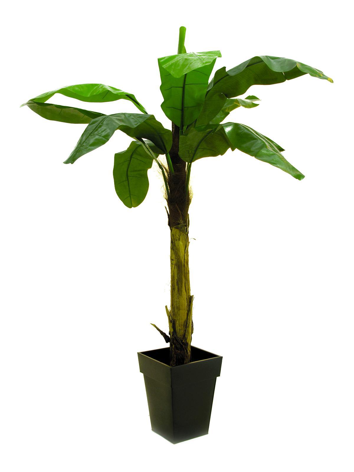 Albero delle banane 9 foglie 220cm piante finte fiori for Albero di banane
